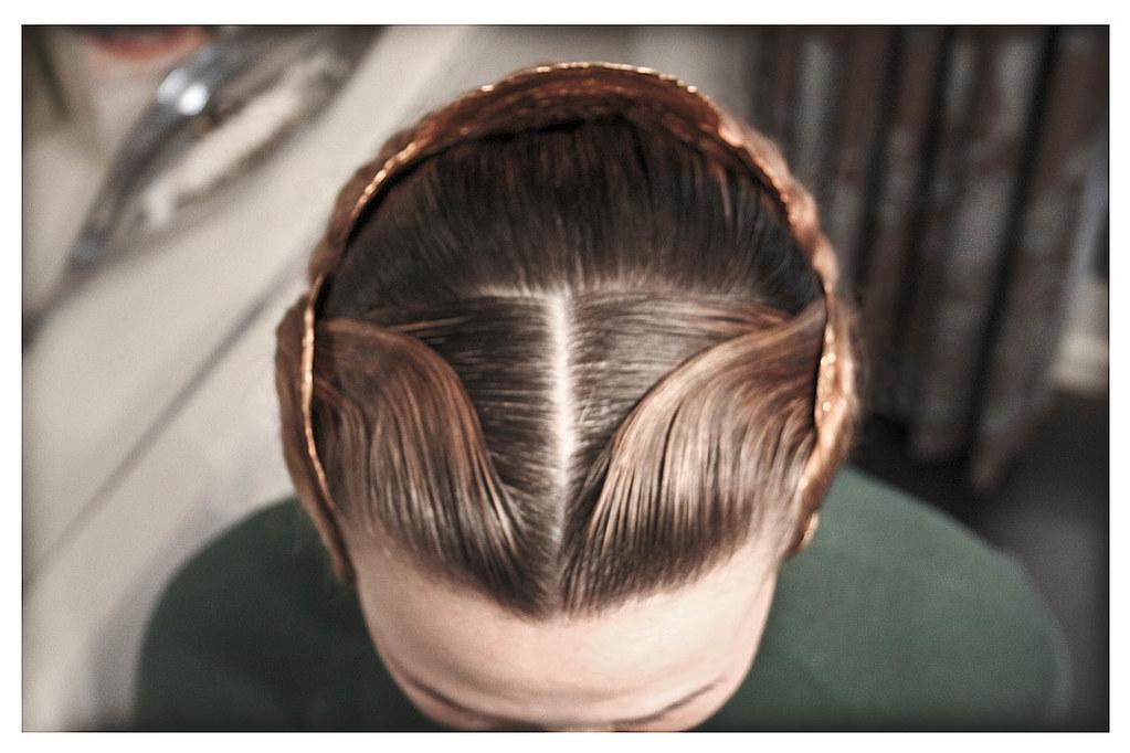 ondas de Fallera peinado de fallera