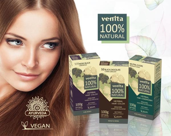 Tinte natural. Venita Henna Herbal Hair Colour Grau Cosmétics