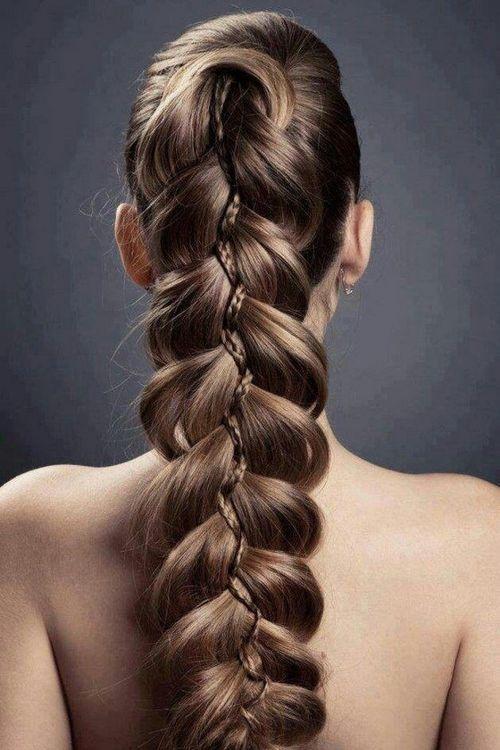 trenza peinado elegante san valentin
