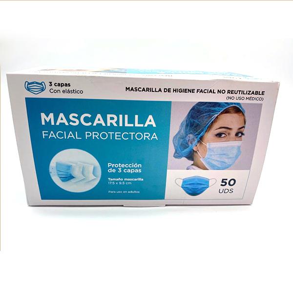mascarila facial protectora 3 capas